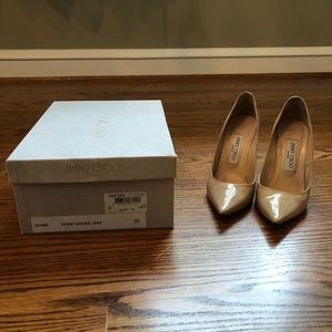 Jimmy Choo size 36 nude pumps